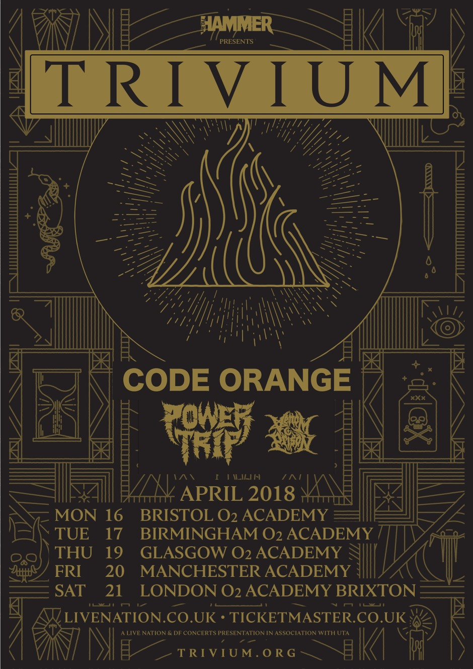 Trivium UK Tour Poster
